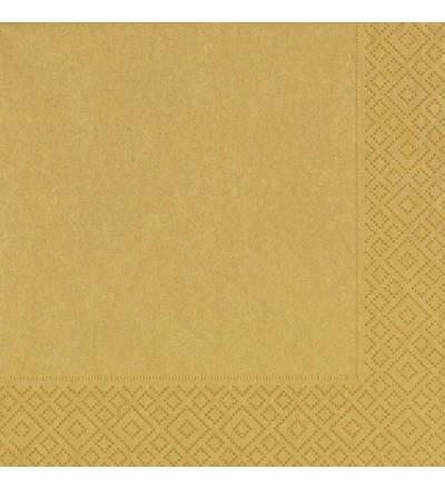 Ubrousek 33x33 3V Gold 20ks | Duni - Ubrousky, kapsy na příbory - 3 vrstvé ubrousky