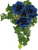 Květ.kroužky 11cm Modrý   Duni - Svíčky, svícny, kroužky - svícny & kroužky