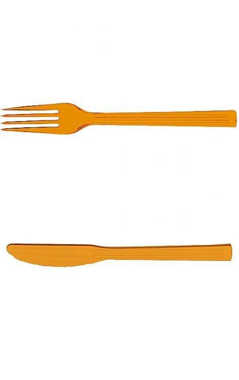Vidlička a nůž tvrz plast 10ks+10ks | Duni - Rautové nádobí - Párty nádobí