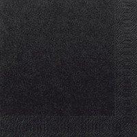 Ubrousek 33x33 2V Černý 125ks | Duni - Ubrousky, kapsy na příbory - 2 vrstvé ubrousky