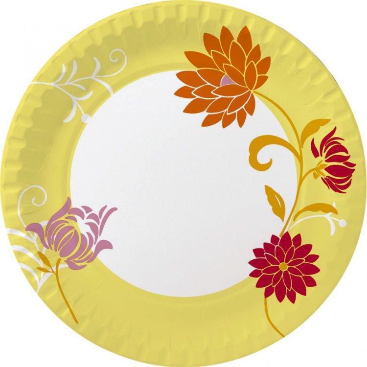 Talíř papírový 22cm Capri Yellow 10ks | Duni - Rautové nádobí - Párty nádobí