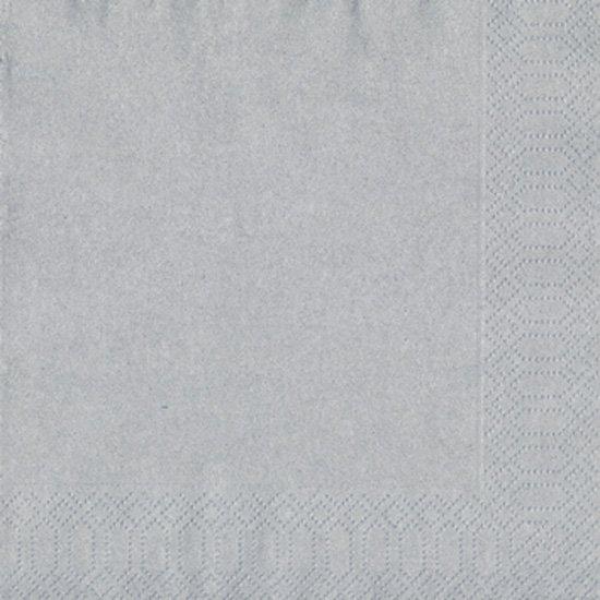 Ubrousek 33x33 3V Stříbrný 50ks | Duni - Ubrousky, kapsy na příbory - 3 vrstvé ubrousky