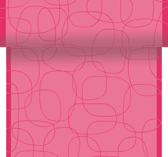 Téte-a-Téte 0,4x24m Grinda Růžová | Duni - Ubrusy, šerpy, prostírky - Šerpy