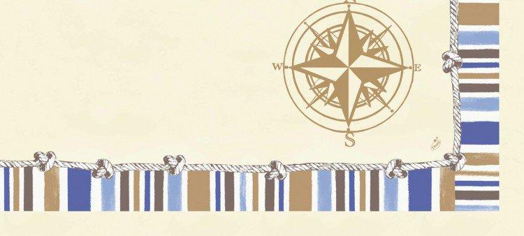 Ubrus 84x84 DCel Marine neomyvatelný   Duni - Ubrusy, šerpy, prostírky - Neomyvatelný ubrus