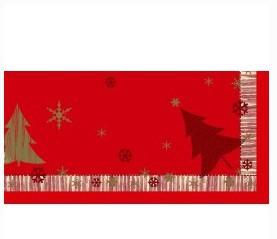 Ubrus 84x84 DCel Winterly Red neomyvat   Duni - Ubrusy, šerpy, prostírky - Neomyvatelný ubrus