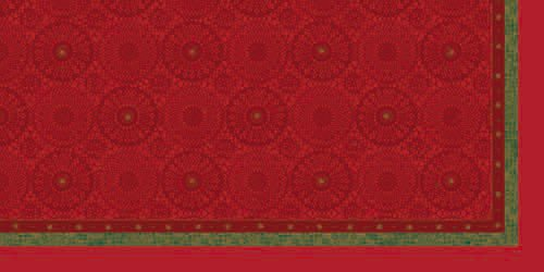 Ubrus 84x84 DCel Festive Charme Red neo. | Duni - Ubrusy, šerpy, prostírky - Neomyvatelný ubrus