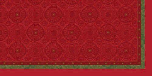 Ubrus 84x84 DSilk Festive Charm Red/om   Duni - Ubrusy, šerpy, prostírky - Omyvatelný ubrus