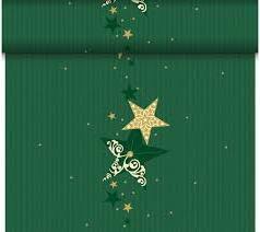 Téte-a-Téte 0,4x24m Walk of Fame Green   Duni - Ubrusy, šerpy, prostírky - Šerpy