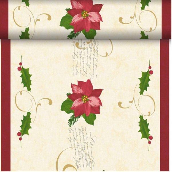 Téte-a-Téte 0,4x24m Christmas Flower | Duni - Ubrusy, šerpy, prostírky - Šerpy