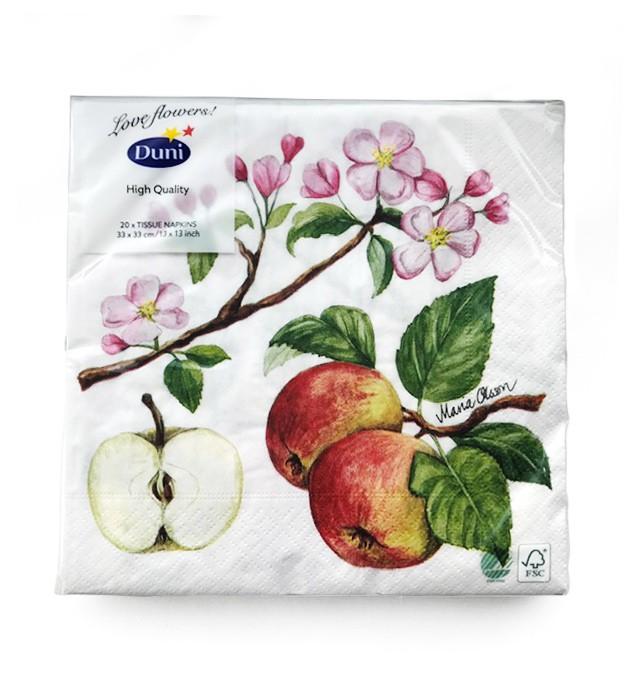 Ubrousek 33x33 3Vr Apple Blossom 20ks | Duni - Ubrousky, kapsy na příbory - 3 vrstvé ubrousky