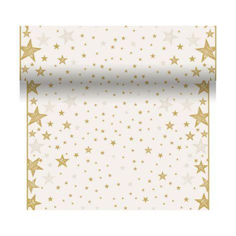 Téte-a-Téte 0.4x4.8m Shining Star Cream | Duni - Ubrusy, šerpy, prostírky - Šerpy