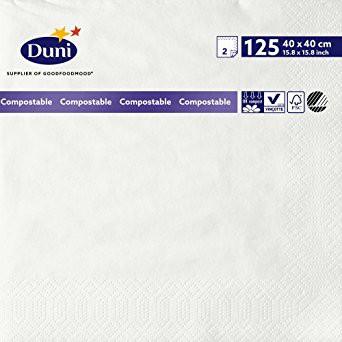 Ubrousek 40x40 2V 125ks Bílé | Papírové a hygienické výrobky - Ubrousky - Vícevrstvé