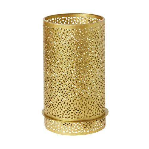 Svícen Bliss zlatá kov 200x120mm LED | Duni - Svíčky, svícny, kroužky - svícny & kroužky