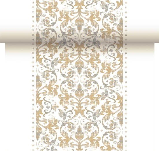 Téte-a-Téte 0,4x24m Festiva White | Duni - Ubrusy, šerpy, prostírky - Šerpy