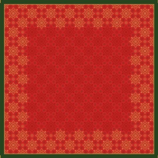 Ubrus 84x84 DSilk Xmas Deco Red omyvat   Duni - Ubrusy, šerpy, prostírky - Omyvatelný ubrus