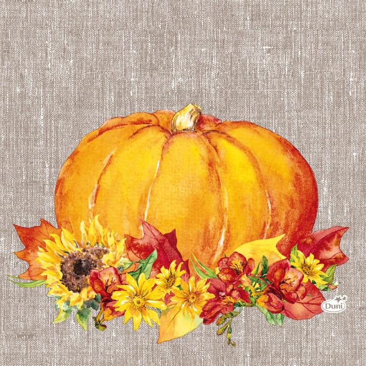 Ubrousek 33x33 3V Autumn Pumpkin 20ks | Duni - Ubrousky, kapsy na příbory - 3 vrstvé ubrousky