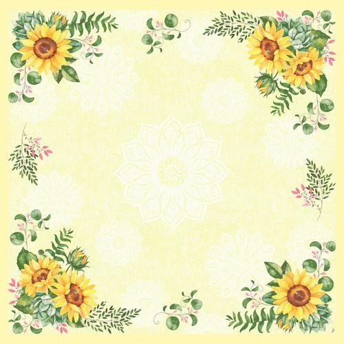 Ubrus 84x84 Dsilk Sunflower omyvat.   Duni - Ubrusy, šerpy, prostírky - Omyvatelný ubrus
