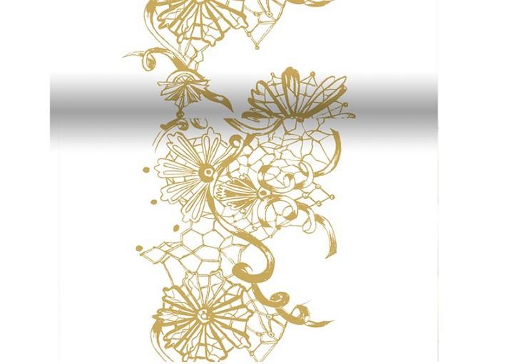 Téte-a-Téte 0,4x 4,8m Dolce Vita Gold | Duni - Ubrusy, šerpy, prostírky - Šerpy