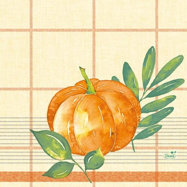 Ubrousek 33x33 3V Pumpkin Spice 50ks | Duni - Ubrousky, kapsy na příbory - 3 vrstvé ubrousky