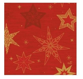 Ubrousek 33x33 3V Star Stories Red 50ks   Duni - Ubrousky, kapsy na příbory - 3 vrstvé ubrousky