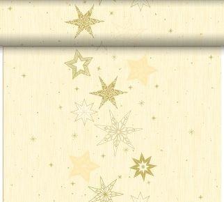 Tete-a-Téte 0.4x24m Star Stories Cream | Duni - Ubrusy, šerpy, prostírky
