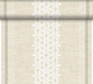 Téte-a-Téte 0.4x24m Linen Snow   Duni - Ubrusy, šerpy, prostírky