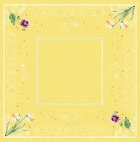 Ubrus 84x84 DSilk Spring Lilies omyvaten | Duni - Ubrusy, šerpy, prostírky - Omyvatelný ubrus
