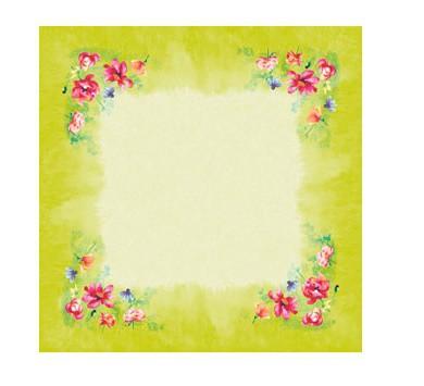 Ubrus 84x84 DSilk Garden Joy omyvatelný | Duni - Ubrusy, šerpy, prostírky - Omyvatelný ubrus