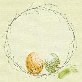Ubrousek 33x33 3V Easter Pastule 50ks   Duni - Ubrousky, kapsy na příbory - 3 vrstvé ubrousky