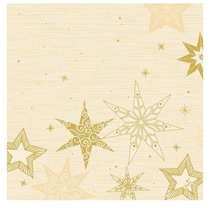Ubrousek 40x40 Dsoft Star Stories Cr 12k | Duni - Ubrousky, kapsy na příbory - Airlaid 40x40