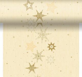 Téte-a-Téte 0,4x4,8m Star Stories Cream   Duni - Ubrusy, šerpy, prostírky - Šerpy