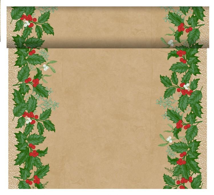 Téte-a-Téte 0,4x24m Snowy Berries | Duni - Ubrusy, šerpy, prostírky - Šerpy