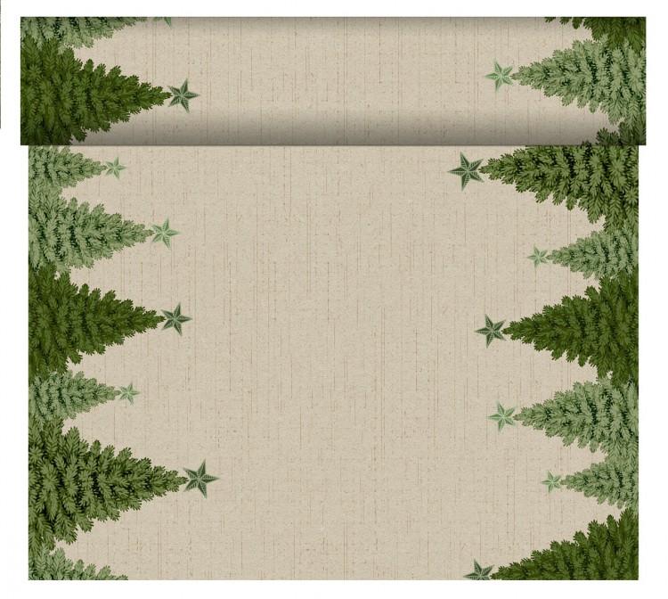 Tete-a-Téte 0,4x24m Fir Forest | Duni - Ubrusy, šerpy, prostírky - Šerpy