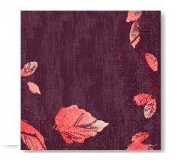 Ubrousek 40x40 Dsoft Painted Fall 60ks | Duni - Ubrousky, kapsy na příbory - Airlaid 40x40