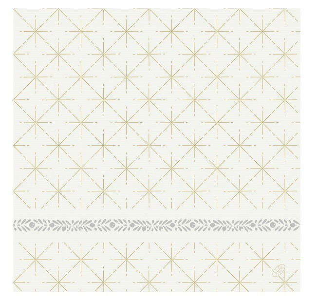 Ubrousek 40x40 DSoft Glitter White 60ks | Duni - Ubrousky, kapsy na příbory - Airlaid 40x40