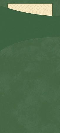 Tissue Sacchetto 8,5x20cm Tm.zelená100ks   Duni - Ubrousky, kapsy na příbory - Kapsy na příbory