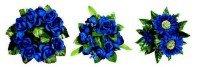 Květinový kroužek Modrý prům.11cm- MIX   Duni - Svíčky, svícny, kroužky - svícny & kroužky