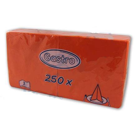 Ubrousek 24x24 2V oranžový 250ks | Papírové a hygienické výrobky - Ubrousky - Vícevrstvé