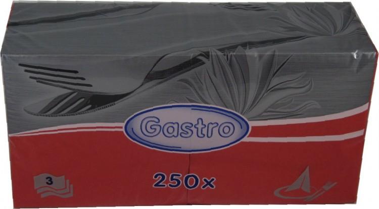 Ubrousek 33x33 3V červené 250ks | Papírové a hygienické výrobky - Ubrousky - Vícevrstvé