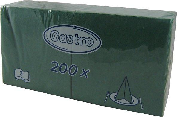 Ubrousek 33x33 3V tmavě zelené 250ks | Papírové a hygienické výrobky - Ubrousky - Vícevrstvé