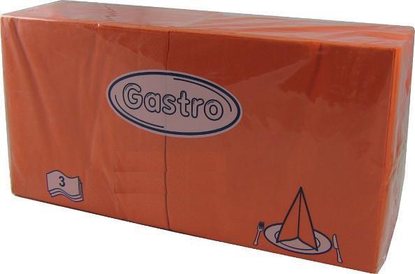 Ubrousek 33x33 3V oranžové 250ks | Papírové a hygienické výrobky - Ubrousky - Vícevrstvé